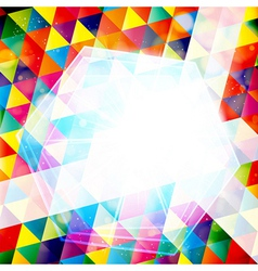 Abstract colorful mosaic vector image