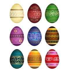 Easter eggs on white background vector image
