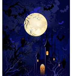 moonlit night on halloween vector image