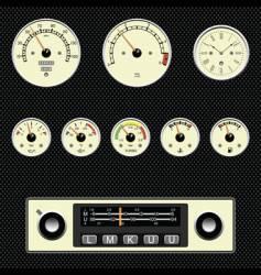 Retro car gauges vector