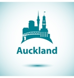 Auckland detailed silhouette vector