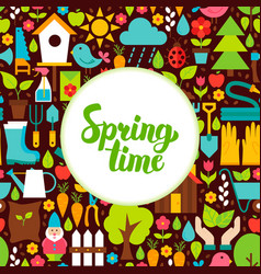 Flat spring time greeting vector