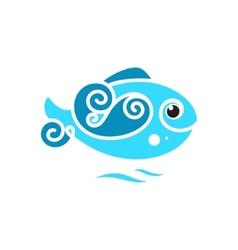 frozen Fish sign vector image vector image
