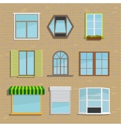 Set of icons different types windows vector image