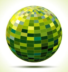 abstract 3d green sphere vector image