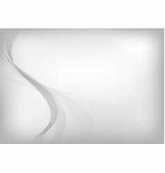 abstract gray curve on white background with light vector image