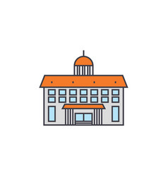 administrative building line icon concept vector image