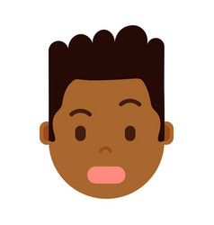 african boy head with facial emotions avatar vector image