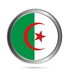 Algeria flag button vector image