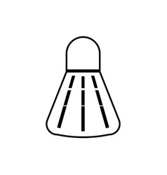 badminton shuttlecock it is black icon vector image