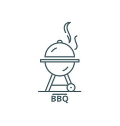 bbq line icon bbq outline sign concept vector image