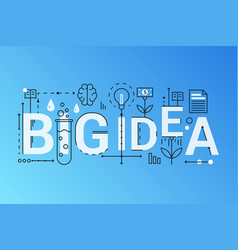 big idea 2019 word trendy composition concept vector image