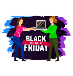 big sale and black friday advertising icon vector image