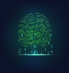binary brain vector image