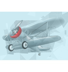 biplane in the sky vector image