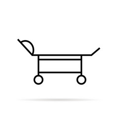 black thin line medical trolley vector image