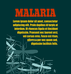 Brochure or flyer design malaria relative vector