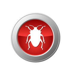 bug button vector image