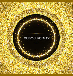 christmas glittering background vector image