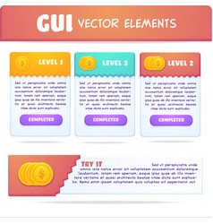 collection interface elements text boxes and vector image