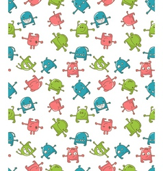 cute monsters pattern vector image