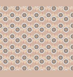 Decorative sunflowers seamless pattern vector