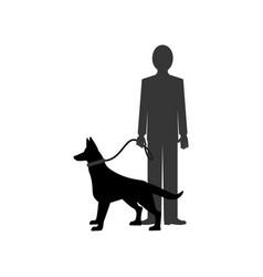 Dog and man vector