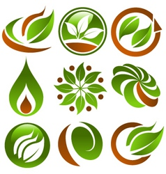 Eco Logo Icons vector image