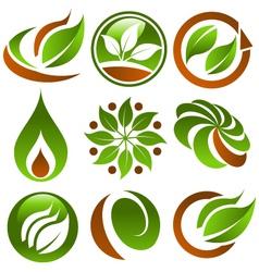 Eco logo icons vector