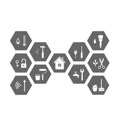 Facilities management and icon set concept vector