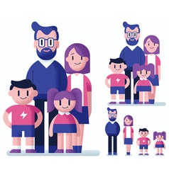 Family Flat Design vector