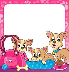 Frame with dog theme 3 vector