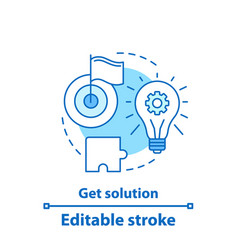Get solution concept icon vector