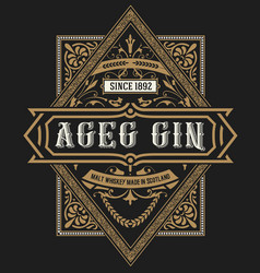 gin label vintage style vector image