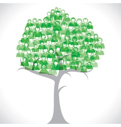 Green businessmen tree vector image