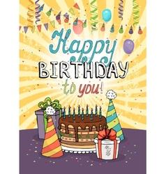 Happy Birthday greeting card or invitation vector