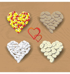 Hearts from pills vector