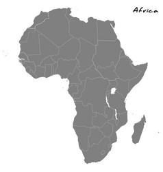 high quality map africa vector image