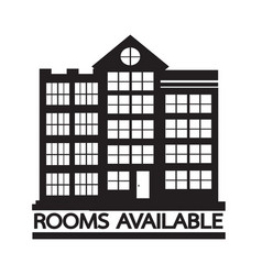 Hotel rooms available icon design vector