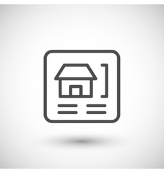 House scheme line icon vector image