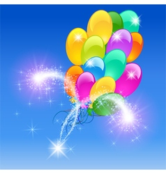 Inflatable balloons firework vector