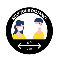 Keep your distance sign new normal social vector
