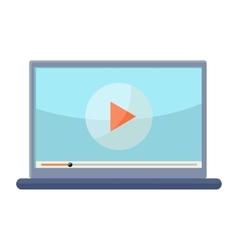 Laptop in Flat Design vector image