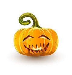 Laughing sinister halloween pumpkin vector