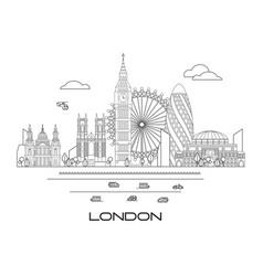 london skyline line art 3 vector image