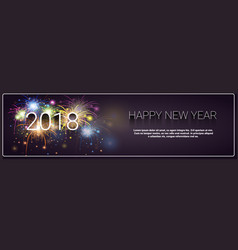 Merry christmas and happy new year 2018 banner vector