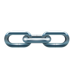Metal chain icon vector