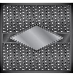 Metal rhombus frame vector image