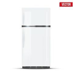 modern fridge freezer refrigerator vector image