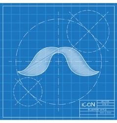 mustache icon vector image